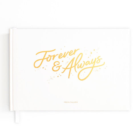 Forever & Always Prompted Wedding Guest Book - The Pretty Prop Shop Parties, Auckland New Zealand