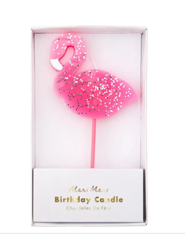 Flamingo Glitter Candle