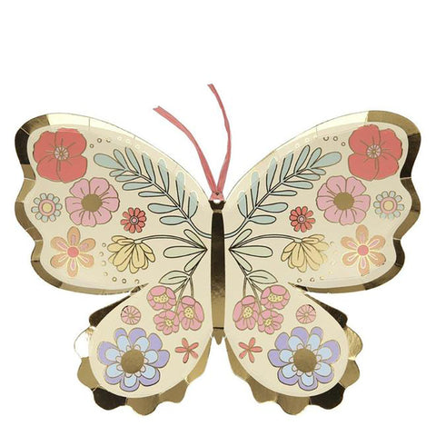 Floral Butterfly Plates - The Pretty Prop Shop Parties, Auckland New Zealand