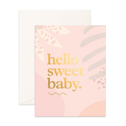 Hello Sweet Baby Greeting Card - The Pretty Prop Shop Parties, Auckland New Zealand