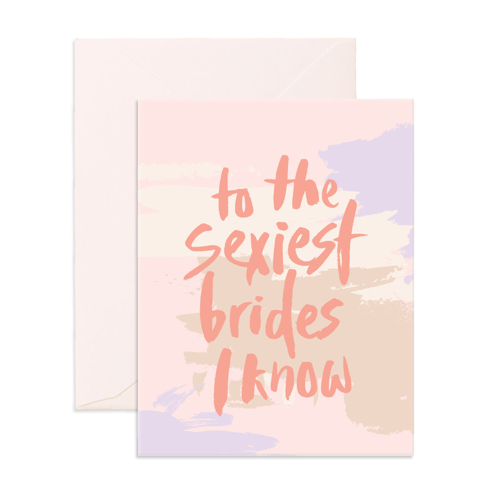 Sexiest Brides Greeting Card - The Pretty Prop Shop Parties, Auckland New Zealand