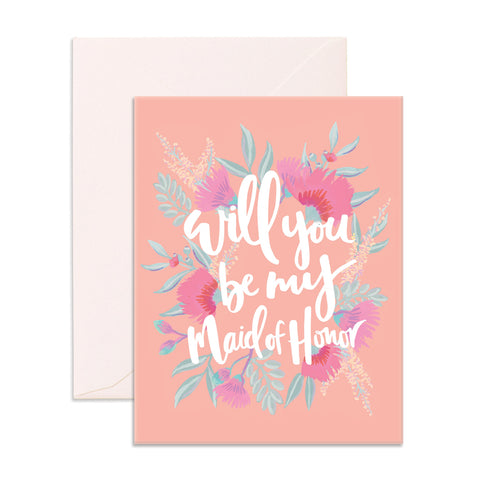 Will You Be My Maid Of Honor Greeting Card - The Pretty Prop Shop Parties, Auckland New Zealand