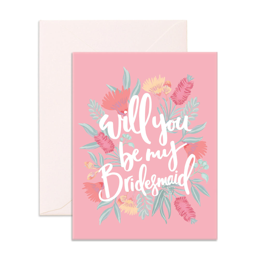 Will You Be My Bridesmaid Greeting Card - The Pretty Prop Shop Parties, Auckland New Zealand