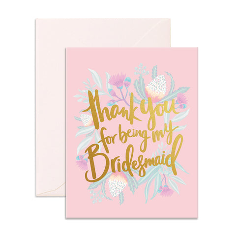 Thank You For Being My Bridesmaid Greeting Card - The Pretty Prop Shop Parties, Auckland New Zealand