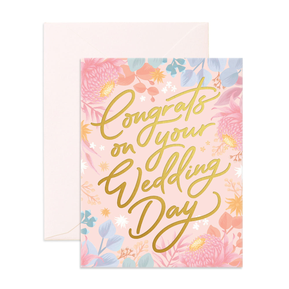 Congrats Wedding Day Greeting Card - The Pretty Prop Shop Parties, Auckland New Zealand