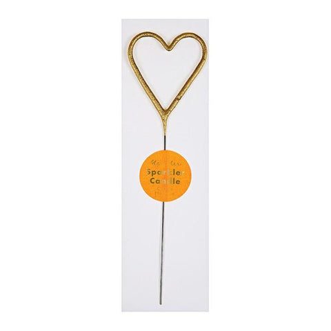 Gold Sparkler Candle - Heart - The Pretty Prop Shop Parties, Auckland New Zealand