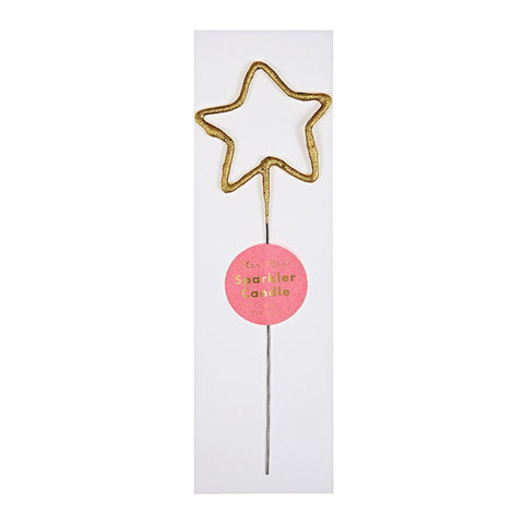 Gold Sparkler Candle - Star - The Pretty Prop Shop Parties, Auckland New Zealand