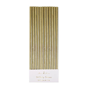Gold Paper Party Straws - The Pretty Prop Shop Parties, Auckland New Zealand
