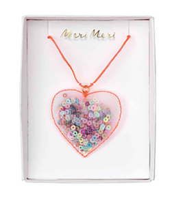 Heart Shaker Necklace - The Pretty Prop Shop Parties, Auckland New Zealand