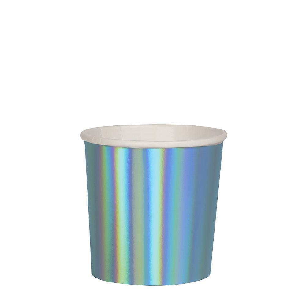 Holographic Blue Tumbler Cups - The Pretty Prop Shop Parties, Auckland New Zealand