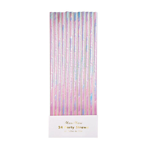 Iridescent Party Straws - The Pretty Prop Shop Parties, Auckland New Zealand