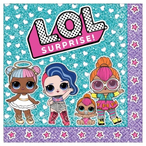 LOL Surprise Lunch Napkins - The Pretty Prop Shop Parties, Auckland New Zealand