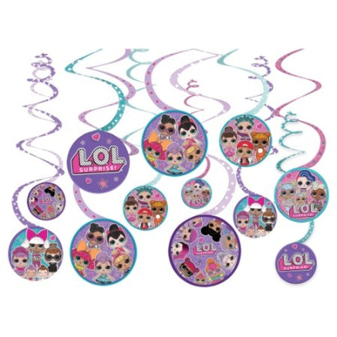 LOL Surprise Spiral Decoration Value Pack - The Pretty Prop Shop Parties, Auckland New Zealand