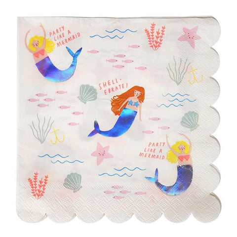 Let's Be Mermaids Napkins - The Pretty Prop Shop Parties, Auckland New Zealand