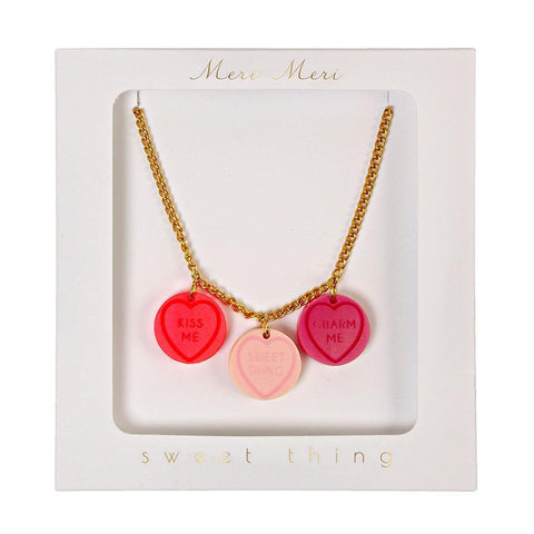 Love Hearts Necklace - The Pretty Prop Shop Parties, Auckland New Zealand