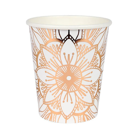 Mandala Paper Cups - The Pretty Prop Shop Parties, Auckland New Zealand