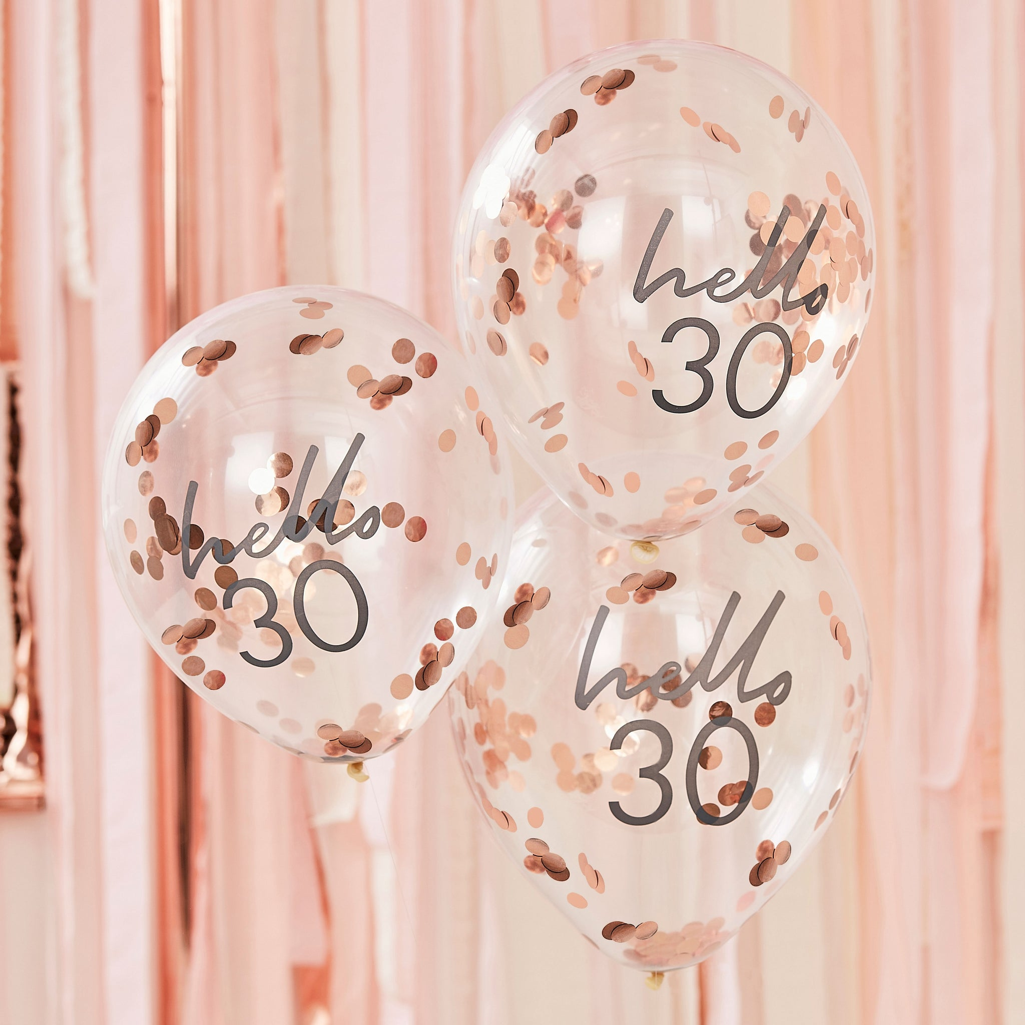 Hello 30 Birthday Balloons - The Pretty Prop Shop Parties, Auckland New Zealand
