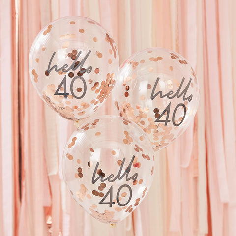 Hello 40 Birthday Balloons - The Pretty Prop Shop Parties, Auckland New Zealand