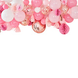 Blush and Peach Balloon & Fan Garland Party Backdrop
