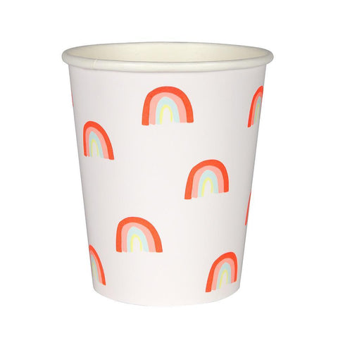 Rainbow Paper Cups - The Pretty Prop Shop Parties, Auckland New Zealand
