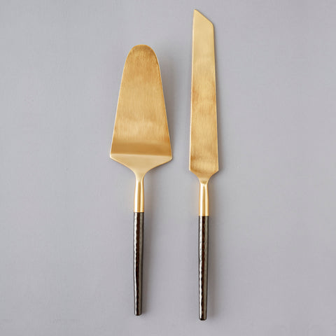 Santo Cake Knife Server Set