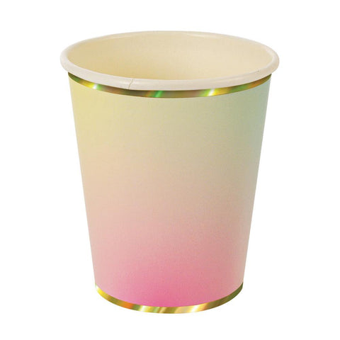 Ombre Paper Cups - The Pretty Prop Shop Parties, Auckland New Zealand