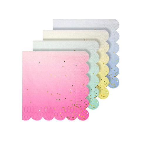 Ombre Paper Napkins Small - The Pretty Prop Shop Parties, Auckland New Zealand