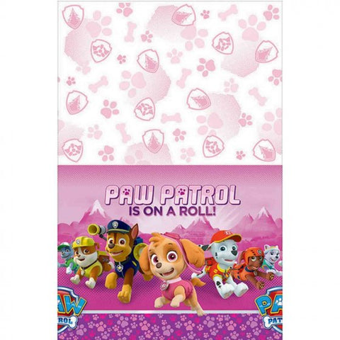 Paw Patrol Girl Plastic Tablecover