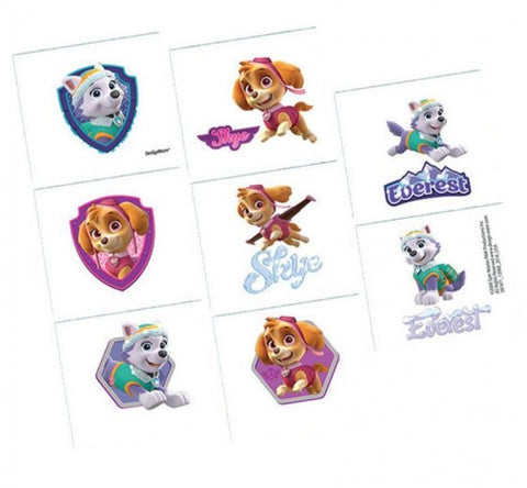 Paw Patrol Girl Tattoo Favours