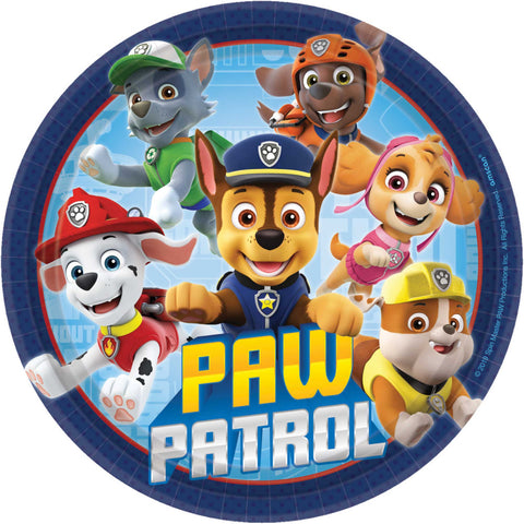 Paw Patrol Adventures Round Plates - The Pretty Prop Shop Parties, Auckland New Zealand