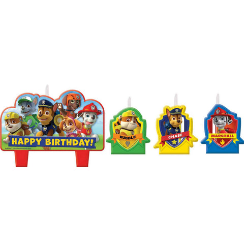 Paw Patrol Birthday Candle Set - The Pretty Prop Shop Parties, Auckland New Zealand