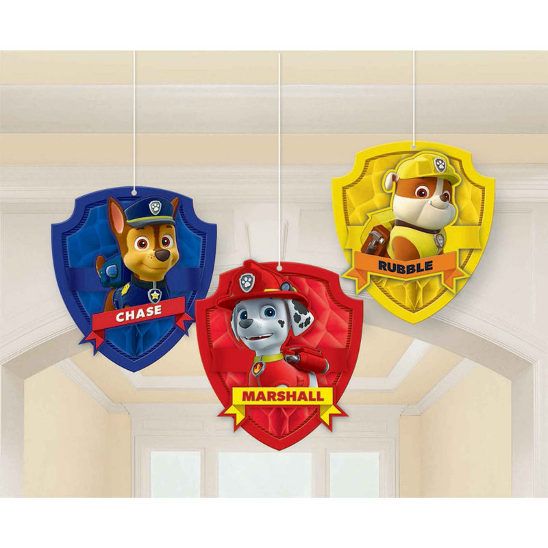 Paw Patrol Honeycomb Decorations - Tissue & Printed Paper - The Pretty Prop Shop Parties, Auckland New Zealand