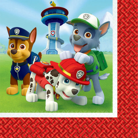 Paw Patrol Lunch Napkins - The Pretty Prop Shop Parties, Auckland New Zealand