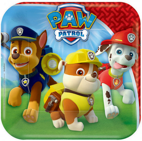 Paw Patrol Square Plates - The Pretty Prop Shop Parties, Auckland New Zealand
