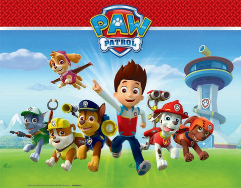 Paw Patrol Plastic Tablecover - The Pretty Prop Shop Parties, Auckland New Zealand