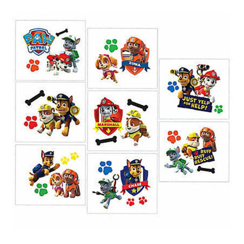Paw Patrol Tattoo Favours - The Pretty Prop Shop Parties, Auckland New Zealand