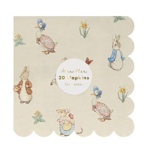 Peter Rabbit™ & Friends Small Napkins - The Pretty Prop Shop Parties, Auckland New Zealand