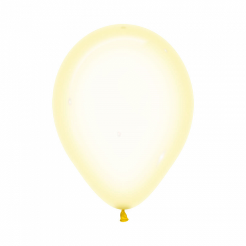 30cm Balloon Crystal Pastel Yellow (Single) - The Pretty Prop Shop Parties, Auckland New Zealand