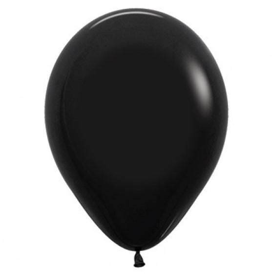 30cm Balloon Black (Single) - The Pretty Prop Shop Parties, Auckland New Zealand