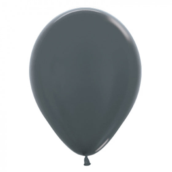 30cm Balloon Metallic Graphite Silver (Single) - The Pretty Prop Shop Parties, Auckland New Zealand