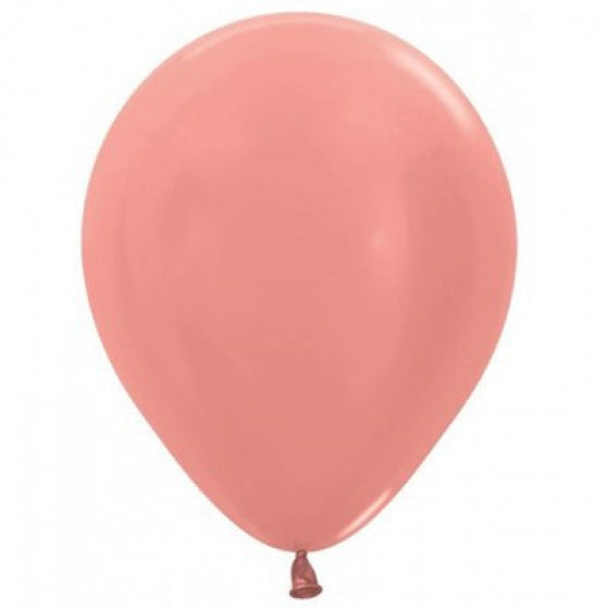 30cm Balloon Metallic Rose Gold (Single) - The Pretty Prop Shop Parties, Auckland New Zealand