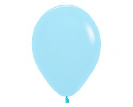 30cm Balloon Pastel Matte Blue (Single) - The Pretty Prop Shop Parties, Auckland New Zealand