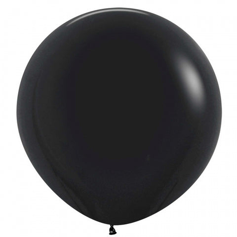 60cm Balloon Black (Single)