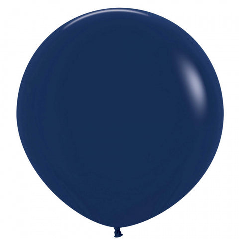60cm Balloon Navy Blue (Single)