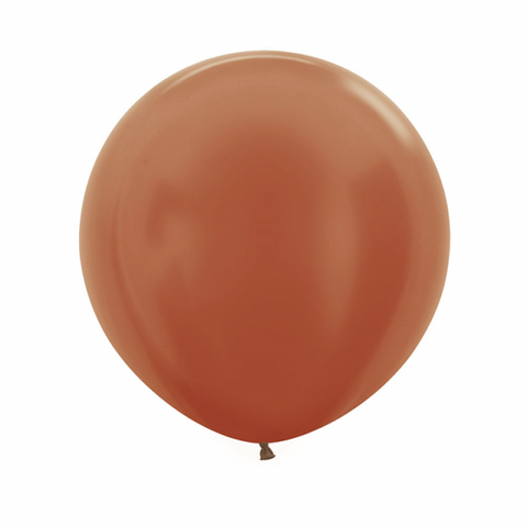 60cm Balloon Metallic Copper (Single) - The Pretty Prop Shop Parties, Auckland New Zealand