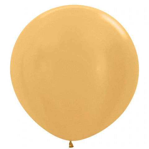 60cm Balloon Metallic Gold (Single) - The Pretty Prop Shop Parties, Auckland New Zealand