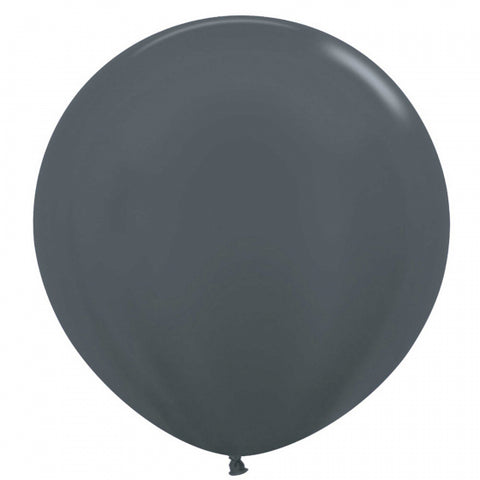 60cm Balloon Metallic Graphite Silver (Single) - The Pretty Prop Shop Parties, Auckland New Zealand