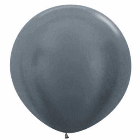 90cm Balloon Metallic Graphite Silver (Single) - The Pretty Prop Shop Parties, Auckland New Zealand