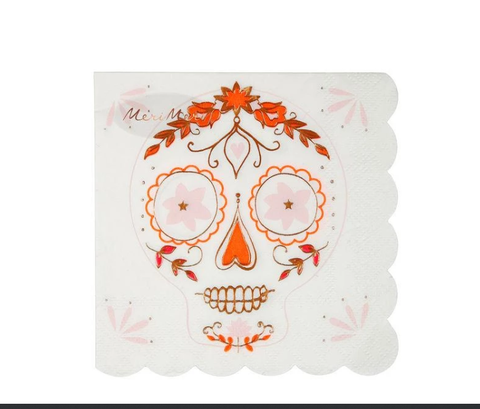 Sugar Skull Napkins Small - The Pretty Prop Shop Parties, Auckland New Zealand