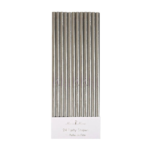 Silver Paper Party Straws - The Pretty Prop Shop Parties, Auckland New Zealand